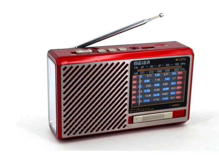 M-137U Аккумуляторный Радиоприемник с SD/USB/ Фонарик