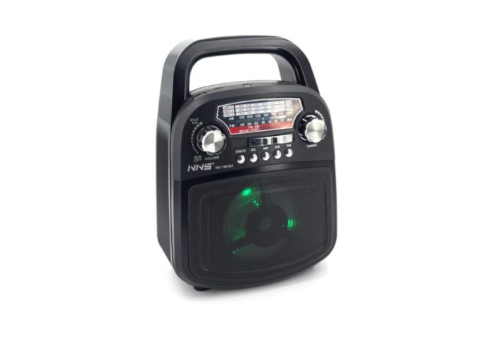 NS-1581BT Аккумуляторный радиоприемник с Bluetooth /LED Подсветка /USB/SD
