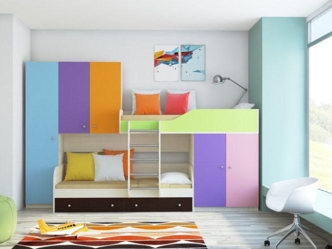 Двухъярусная кровать «Лео»