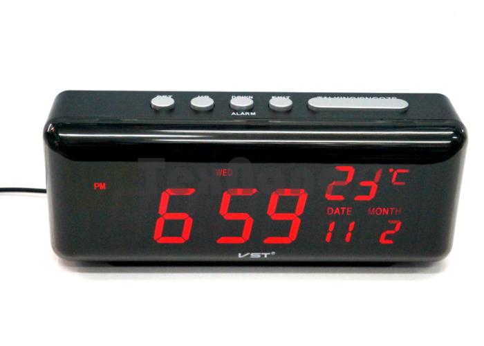VST-762W-1 Электронные сетевые часы