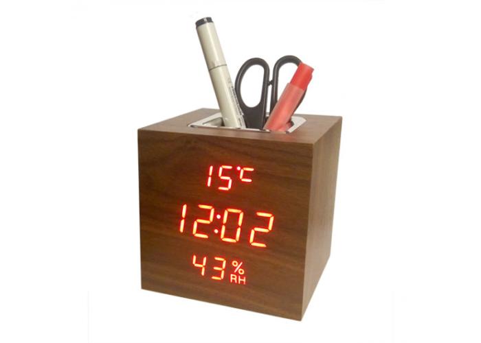 VST-878S Настольные электронные часы, с термометром и влажностью