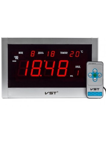 VST-771-1 Часы электронные, настенные с пультом ( блок+пульт )