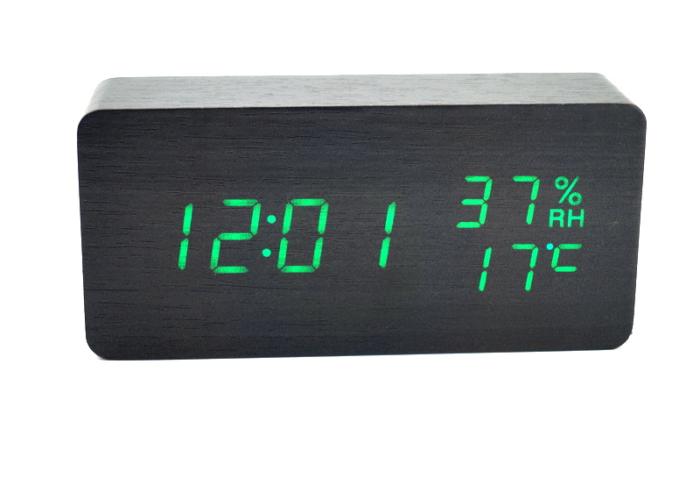 VST-862S Настольные электронные часы, с термометром и влажностью