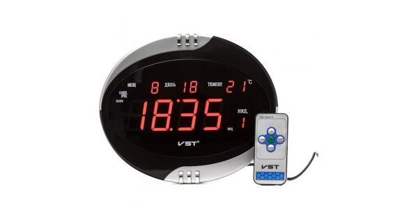 VST-770-1 Часы электронные, настенные с пультом ( блок+пульт )