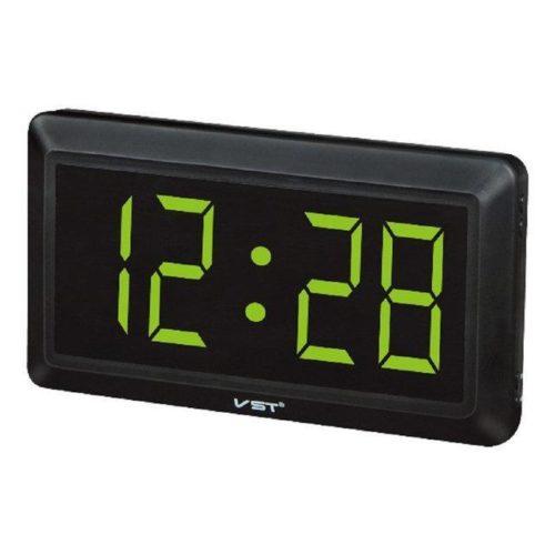 VST-780-4 Часы электронные, ярко зеленые. Большие настенные