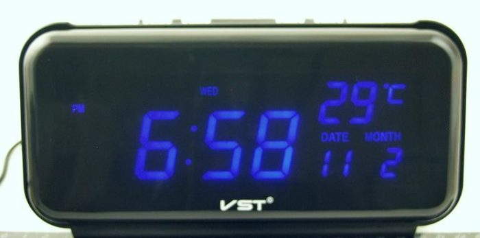 VST-762W-5 Электронные сетевые часы