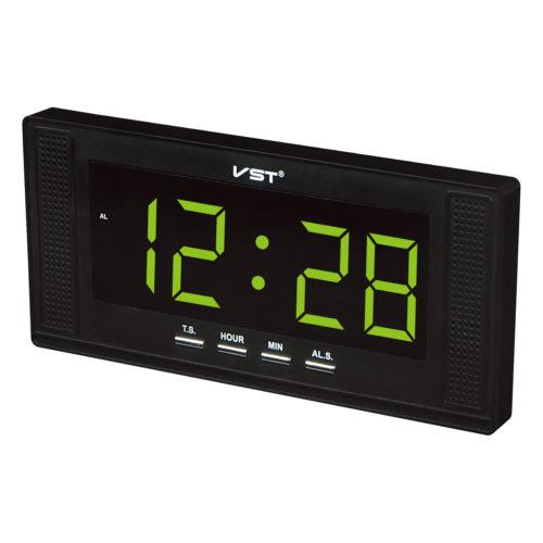 VST-729-2 Часы электронные, зеленые. Большие настенные