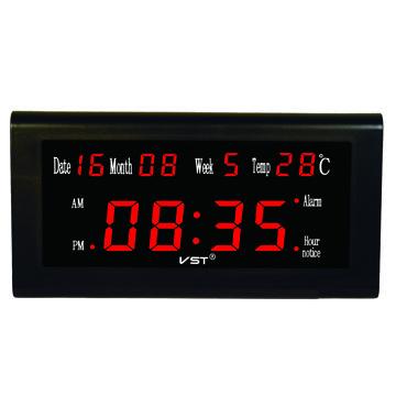 VST-795W-1 Часы электронные, красные. Большие настенные ( +блок )