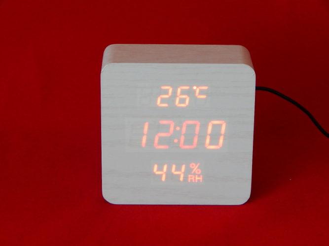 VST-872S Настольные электронные часы, с термометром и влажностью