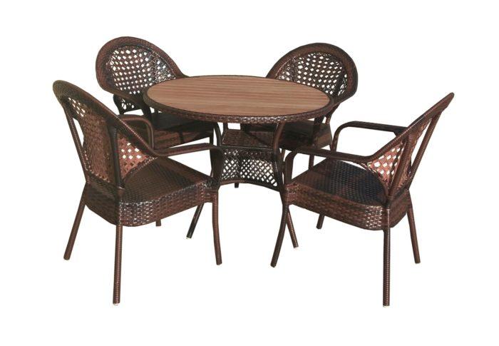 Набор мебели «Аликанте 2» круглый стол