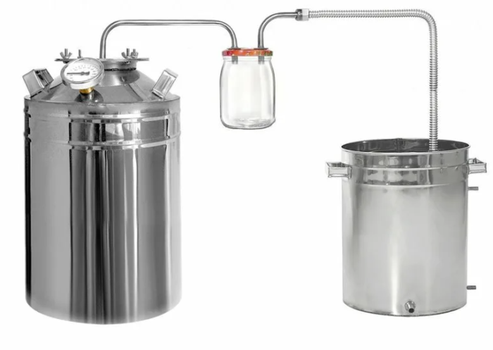 Дистиллятор ДТФБ дачный с банкой-сухопарником 50 литров