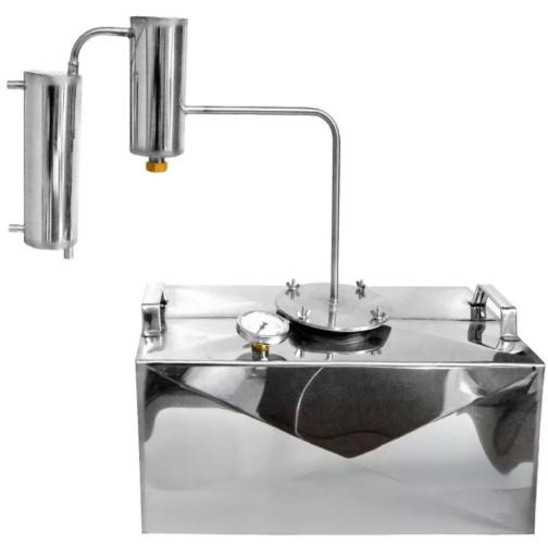 Дистиллятор КОТФ двухконфорочный  с металлическим сухопарником 35 литров
