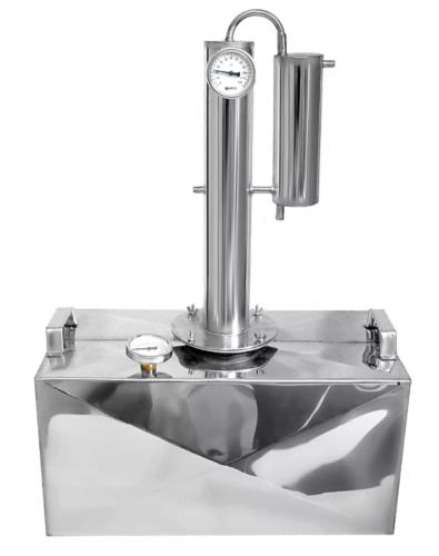 Дистиллятор КЦФ двухконфорочный с вертикальной царгой 35 литров