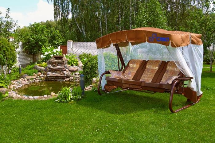 Садовые качели «Палермо Премиум» (мебельная ткань)