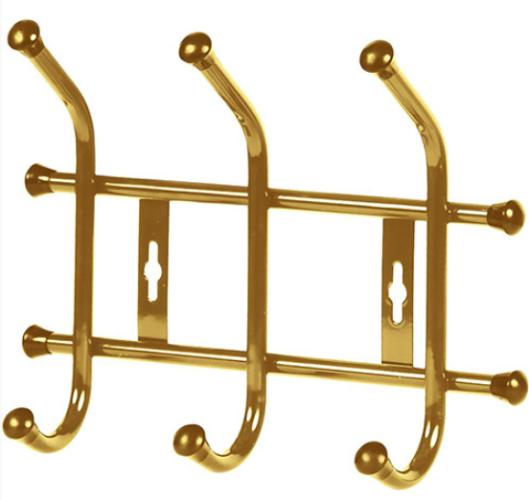 Вешалка НИКА настенная ВНТ3 Золото