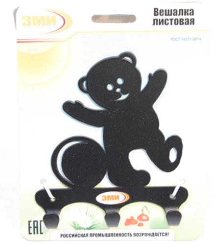 Вешалка ЗМИ листовая ВН306 Черный Мишка