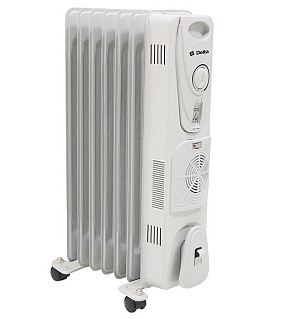 Масляный радиатор Delta 7 с вентилятором