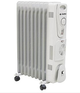 Масляный радиатор DELTA 9 с вентилятором