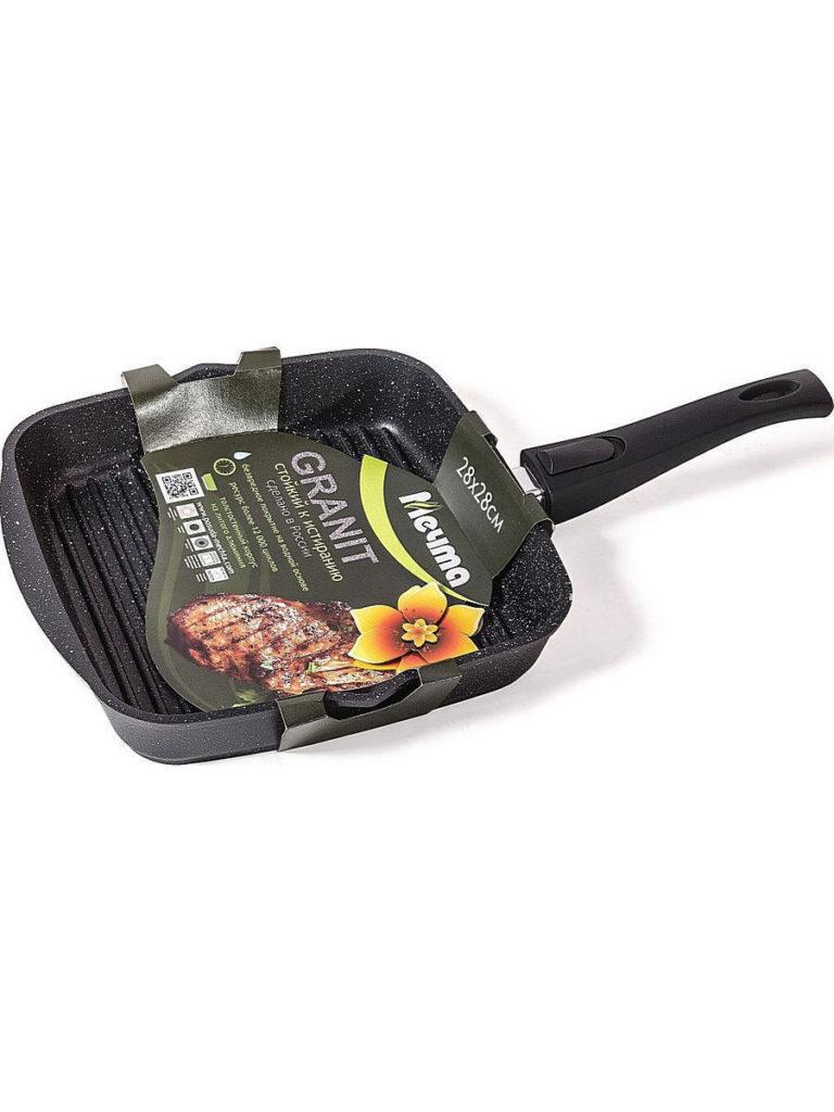 Сковорода-гриль Мечта Гранит Black 28х28 см со съем/руч